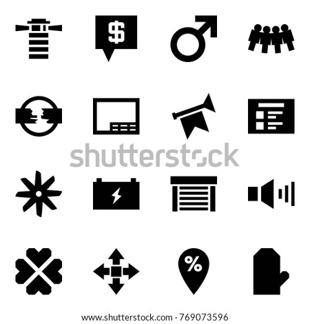 Origami style icon set - lighthouse vector, sms bank, male sign, friendship, disconnect, drawing, horn, schedule, fan, battery, garage, sound, hearts, disassembly, percent pin, glove