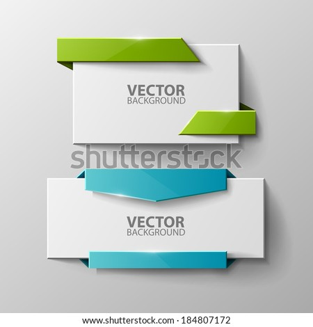 Origami vector banners set  - stock vector