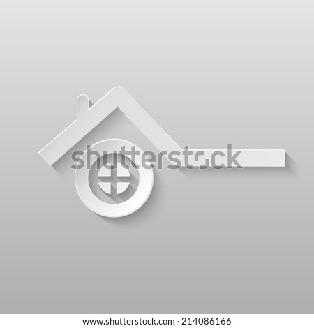 Origami vector energy icon. - stock vector