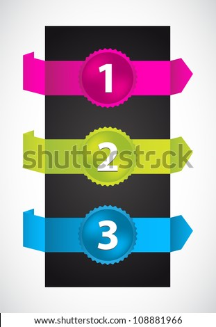 origami with special numbered buttons - stock vector