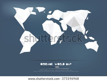Origami world map paper collection vector stock vector 373196968 origami world map paper collection vector illustration gumiabroncs Gallery