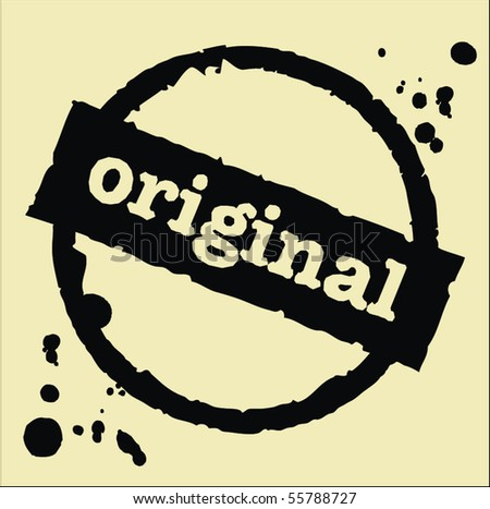 original abstract grunge rubber stamp - stock vector