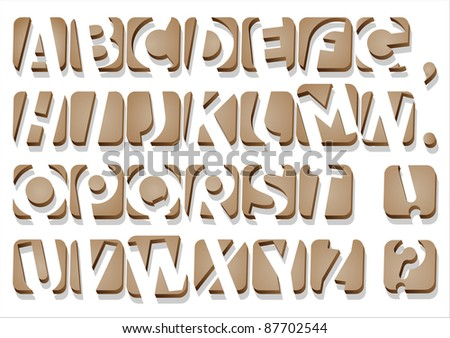 Original Alphabet.Vector .Clip Art - stock vector