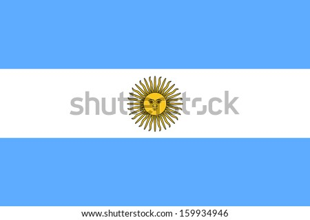 original and simple Argentina flag isolated vector in official colors and Proportion Correctly - stock vector
