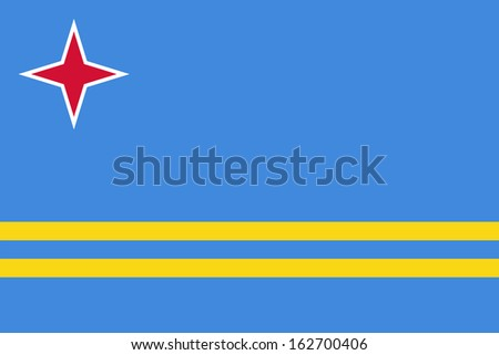 original and simple Aruba flag isolated vector in official colors and Proportion Correctly - stock vector