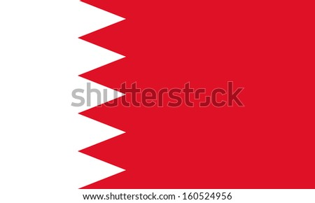 original and simple Bahrain flag isolated vector in official colors and Proportion Correctly - stock vector