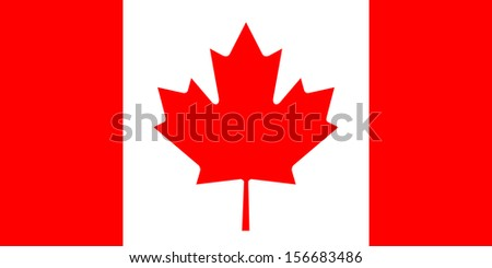 original and simple Canada flag isolated vector in official colors  and Proportion Correctly - stock vector