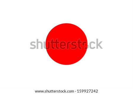 original and simple Japan flag isolated vector in official colors and Proportion Correctly - stock vector