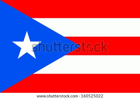 original and simple Puerto Rico flag isolated vector in official colors and Proportion Correctly - stock vector