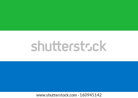 original and simple Sierra Leone flag isolated vector in official colors and Proportion Correctly - stock vector