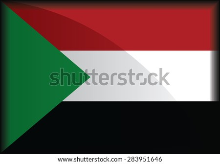 original and simple Sudan flag isolated vector in official colors and Proportion Correctly - stock vector