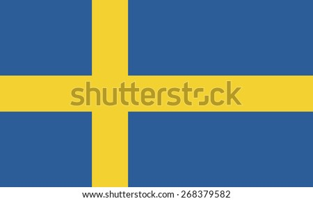 Original and simple Sweden flag isolated vector in official colors and Proportion Correctly - stock vector
