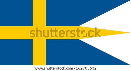original and simple Sweden Naval & War flag isolated vector in official colors and Proportion Correctly - stock vector