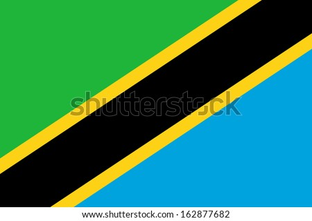 original and simple Tanzania flag isolated vector in official colors and Proportion Correctly - stock vector