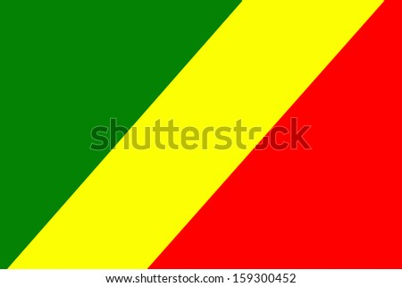 original and simple The Republic of The Congo flag isolated vector in official colors  and Proportion Correctly 3 - stock vector