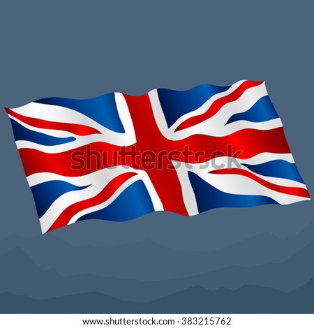 original and simple United Kingdom / England flag isolated vector in official colors  and Proportion Correctly - stock vector