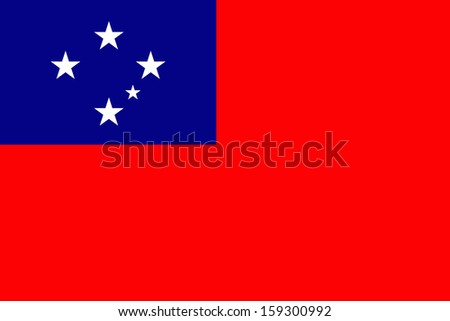 original and simple Western Samoa flag isolated vector in official colors  and Proportion Correctly