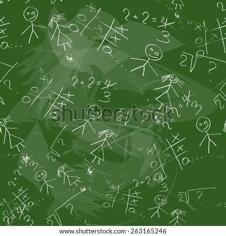 Original background with imitation of a school board green - stock vector