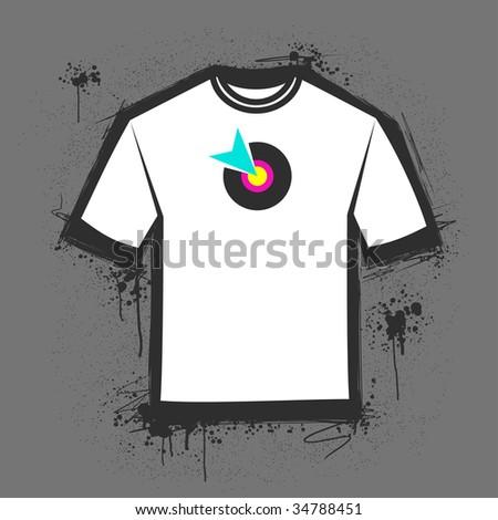 Original blank t-shirt template. Vector illustration. - stock vector