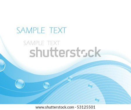 Original blue water background.