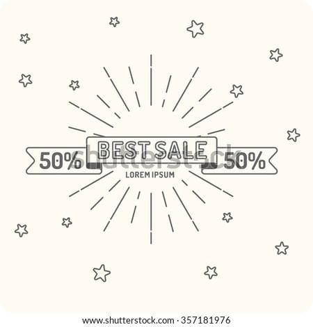 Original concept logo discount sale. Sale banner. Vector illustration - stock vector