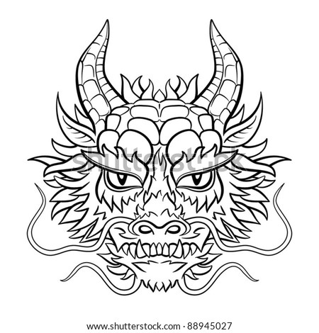 Dragon head stock images royalty free images vectors for Chinese dragon face template