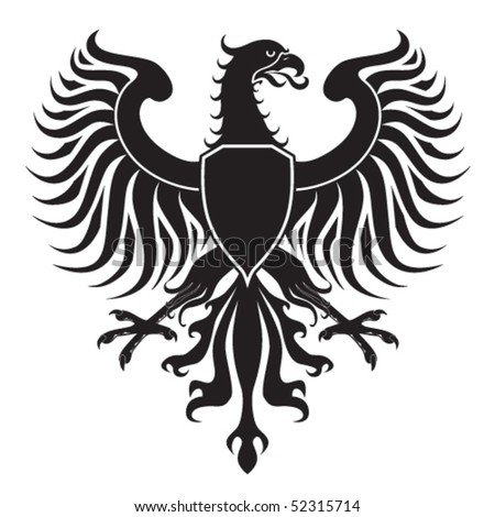Original eagle crest. Easy to handle, change colors etc. - stock vector