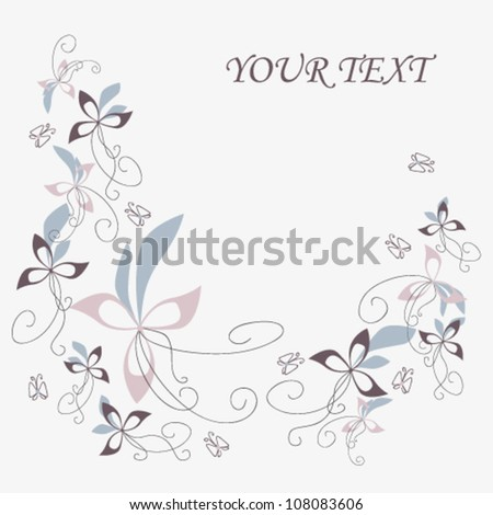 original flowers post card on a light grey background