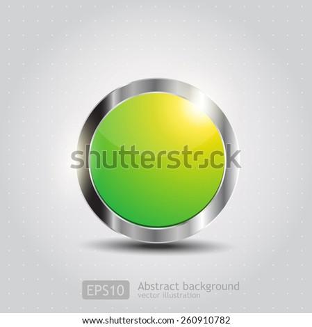 Original glossy button. Vector  - stock vector