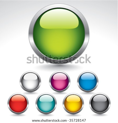 Original glossy buttons for web design. Vector. - stock vector