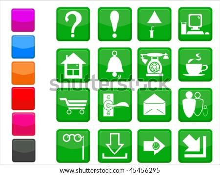 Original internet design icon set - stock vector