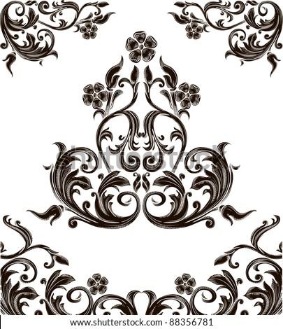 original retro design elements - stock vector
