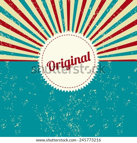 original retro theme - stock vector