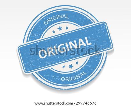 Original rubber stamp.Original grunge stamp.Vector illustration. - stock vector