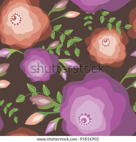 Original seamless floral pattern - stock vector