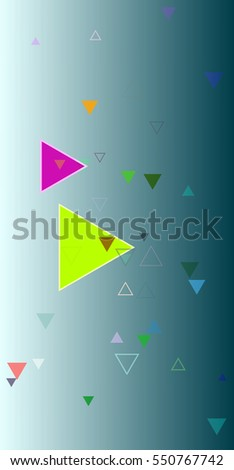 original shape between mark, request beside visual triangles vector background