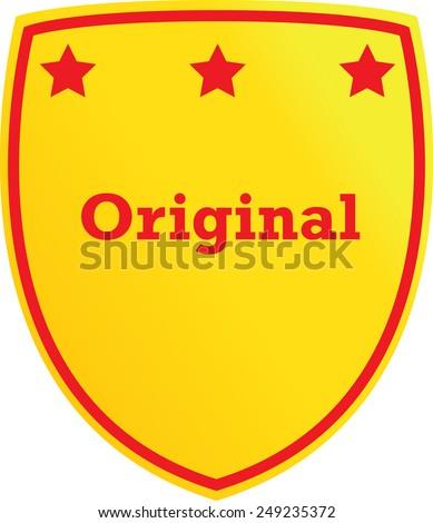 Original shield, vector illustration - stock vector
