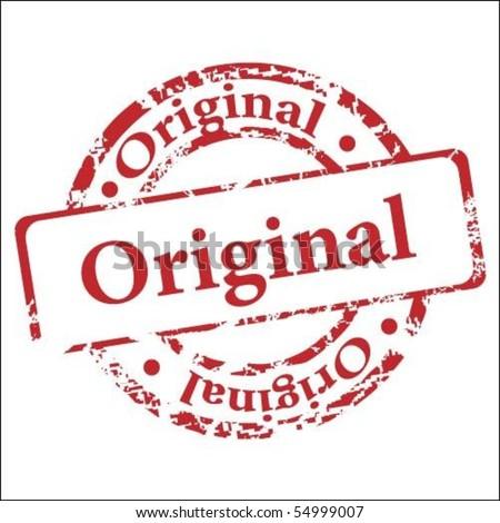 Original stamp - stock vector