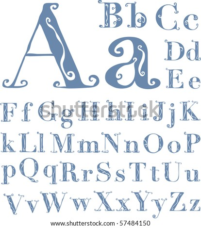 Decorative letters stock images royalty free images vectors shutterstock - Lettre alphabet original ...