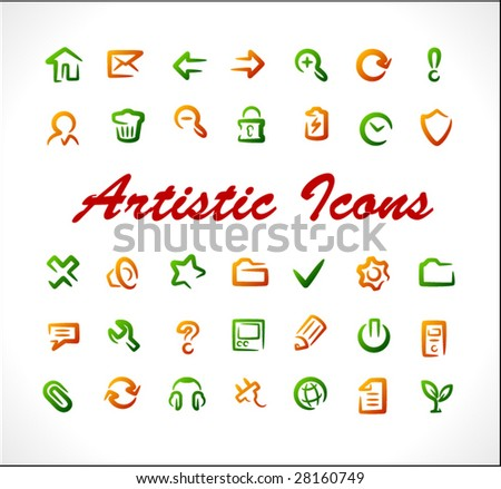 Original vector icons. Set 1.