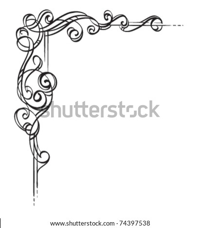 Original Vector Illustration. Beautiful on its own or repeated at each corner to create a frame. - stock vector
