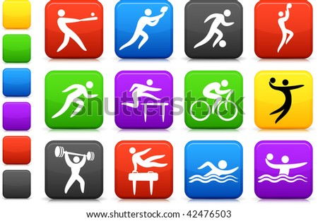 Original vector illustration: sports icon collection - stock vector