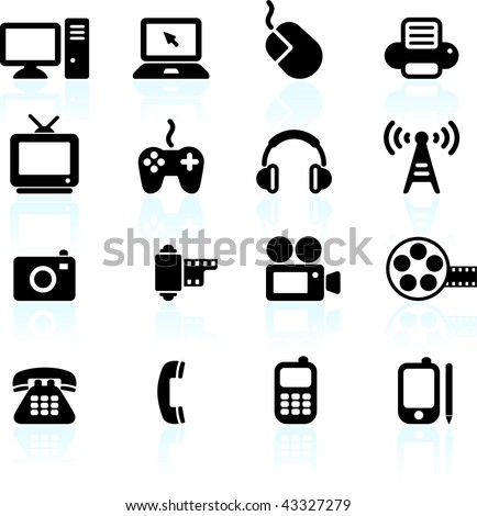 Original vector illustration: technology and communication design elements - stock vector