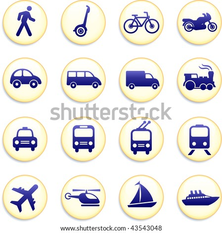 Original vector illustration: Transportation icons design elements - stock vector