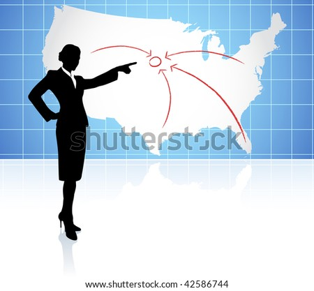 Business Man Use Flash Light Find Stock Vector - Us map vector ai