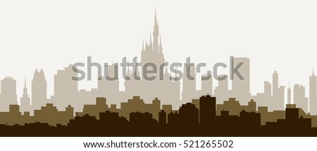 Orlando Florida Morning Skyline - Vector