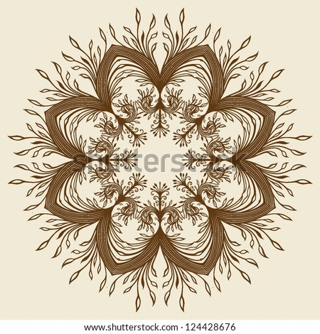 Ornament card, backgrounds - stock vector