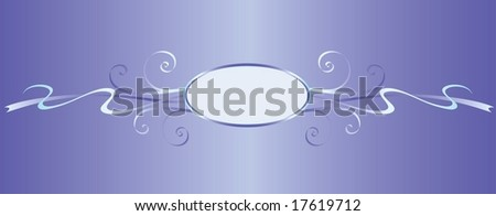 Ornament element with mirror vignette, all parts closed, editing is possible - stock vector