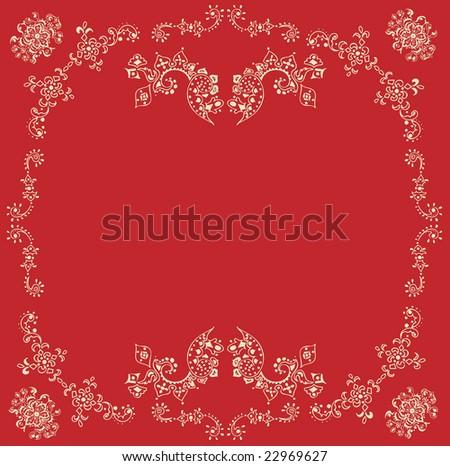 ornament illustration - stock vector