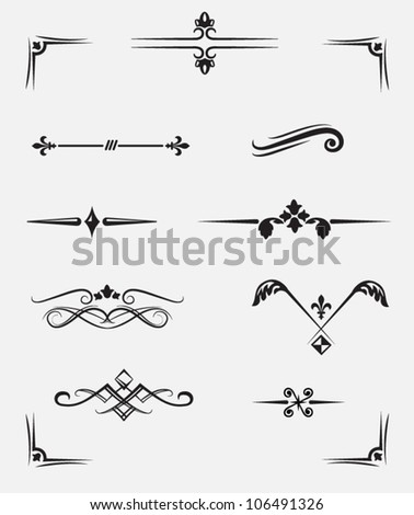 ornament menu - stock vector